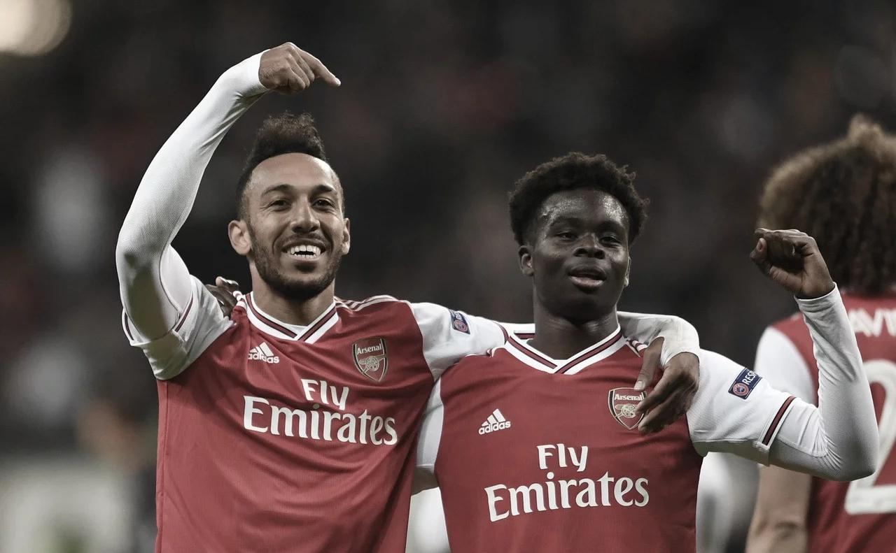 Com gols no final, Arsenal derrota Eintracht Frankfurt na Alemanha pela Europa League