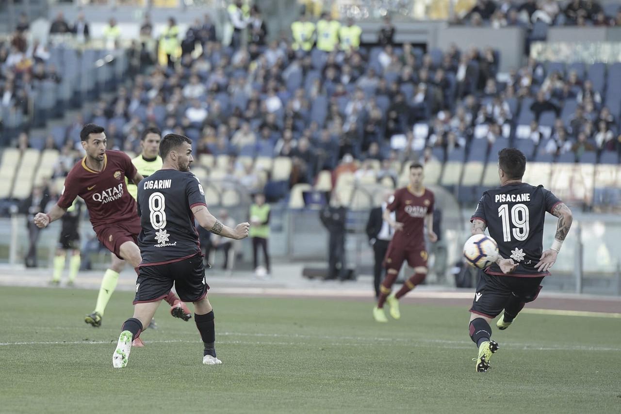 Roma domina e venceCagliariem casa pelo Campeonato Italiano