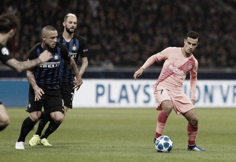 Barcelona sai na frente, mas Internazionale busca empate no fim pela Liga dos Campeões