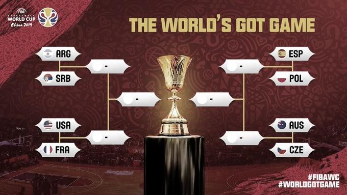 Mundial de Básquet, China 2019: Se definieron los cuartos de final y 5 de las 7 plazas a Tokio 2020