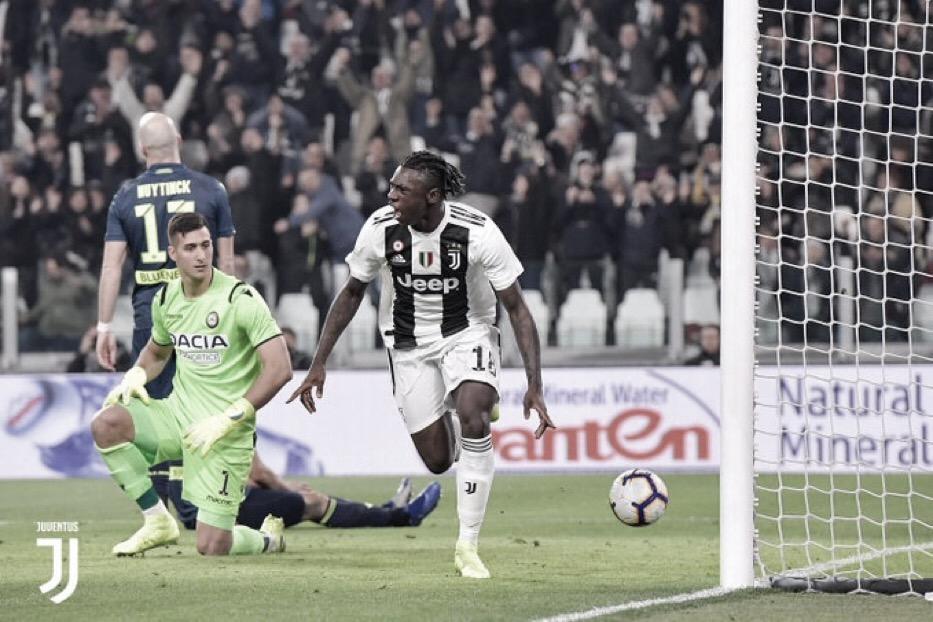Com dois gols de Kean, Juventus passeia sobre a Udinese pelo Campeonato Italiano