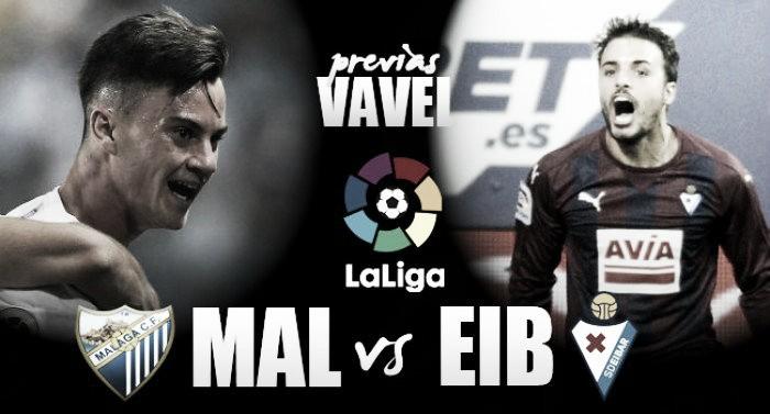Previa Málaga - Eibar: solidez de hierro para fraguar la victoria