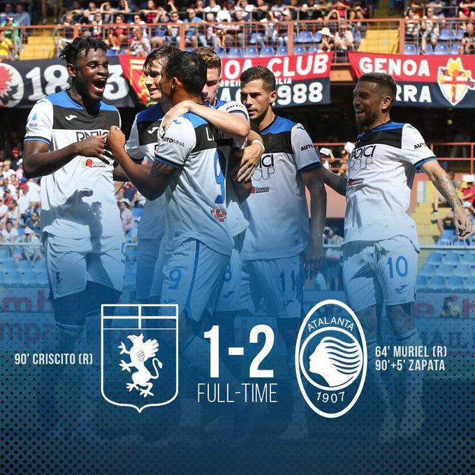 Una pazza Atalanta batte il Genoa: Zapata fa 2-1 addirittura al 95'!!!