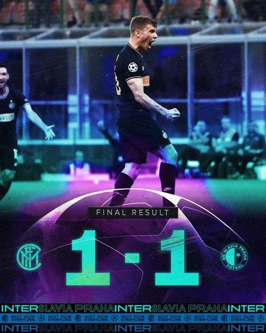 Champions League - L'Inter poco brillante contro lo Slavia Praga: a San Siro è solo 1-1
