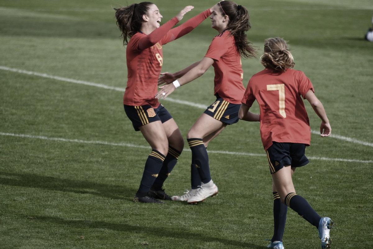 Las sub-17 de la selección española siguen brillando