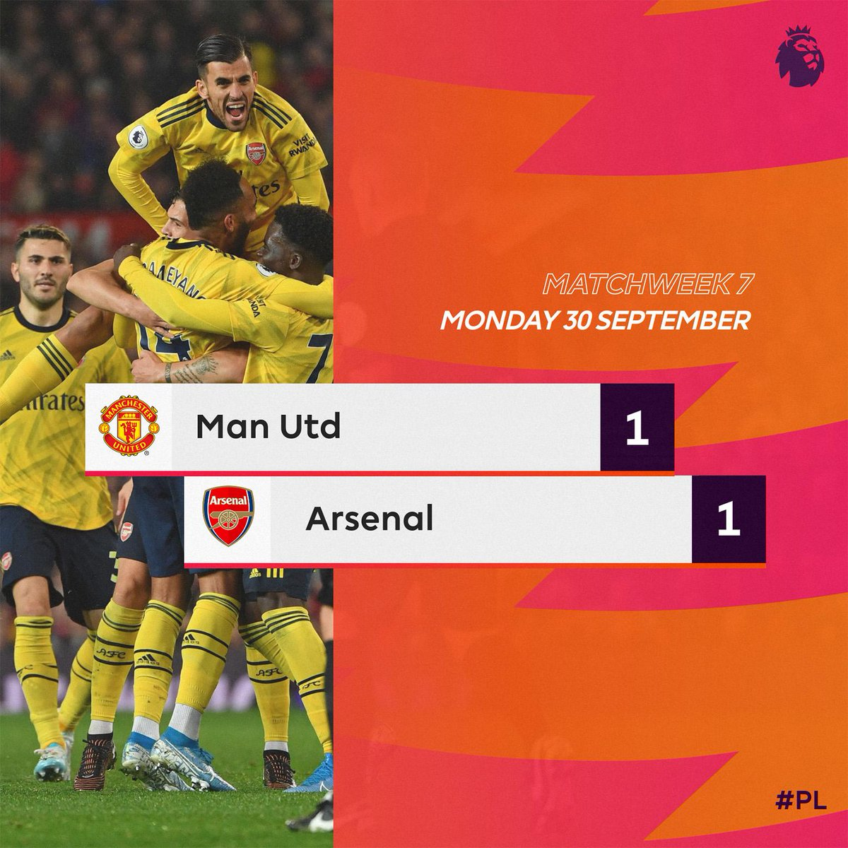 Premier League Monday Night-Pareggio tra United e Arsenal in una partita piacevole