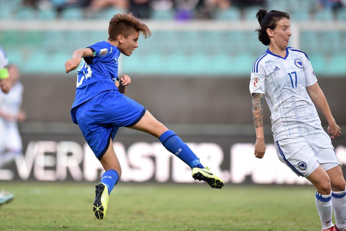 Qualificazioni Europei 2021 Femminili- Italia risponde ancora presente e batte 2-0 la Bosnia