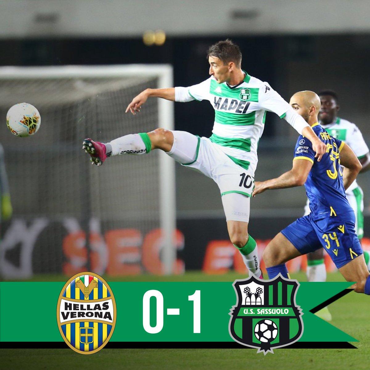 Il Sassuolo sbanca il Bentegodi e batte il Verona 0-1