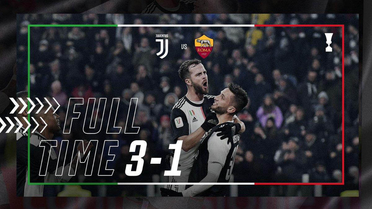 La Juventus vola in semifinale di Coppa Italia. Battuta la Roma 3-1
