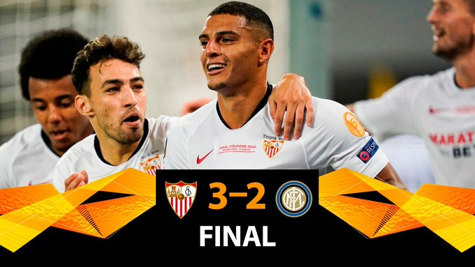 Inter beffata: il Siviglia vince l'Europa League