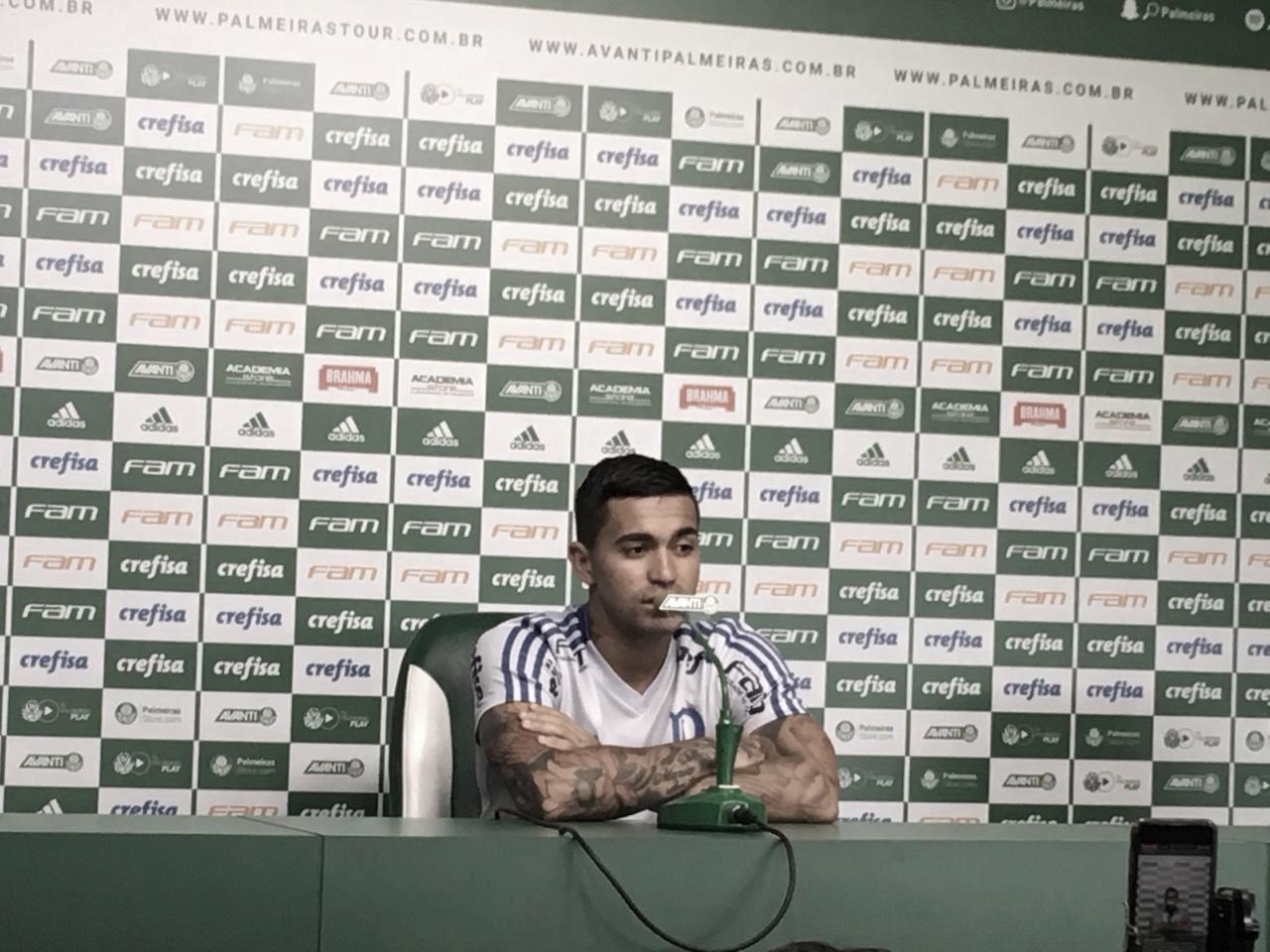 "Dudu afasta status de ídolo do Palmeiras : ""Deixo para torcida"""