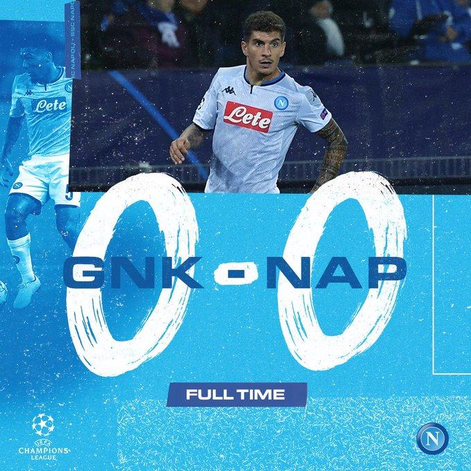 Champions League - Per il Napoli un misero 0-0 contro il Genk