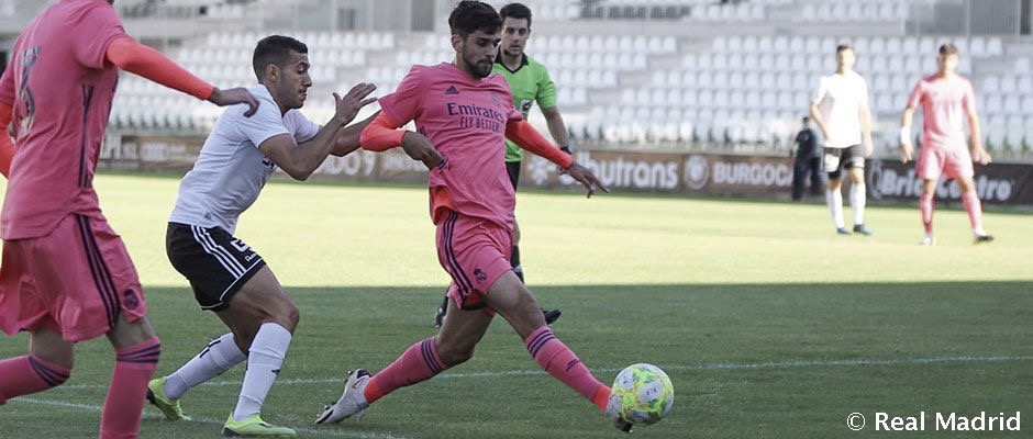 El Castilla empata ante el Burgos en un choque de alto voltaje