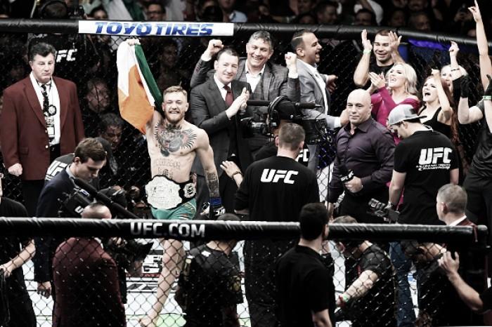 Campeão do UFC, Conor McGregor comemora classificação da Irlanda na Eurocopa