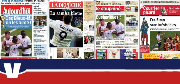 La presse française salue des Bleus héroïques