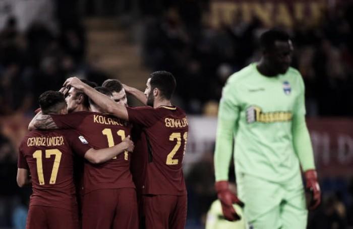 Dzeko quebra jejum, Roma vence SPAL e põe pressão sobre a Juventus