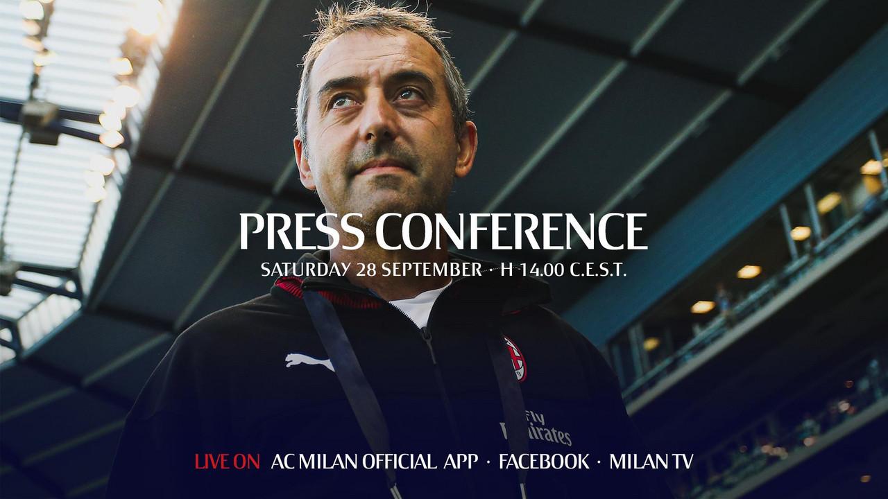 """Giampaolo in conferenza: """"Le critiche sono normali, siamo il Milan"""""""