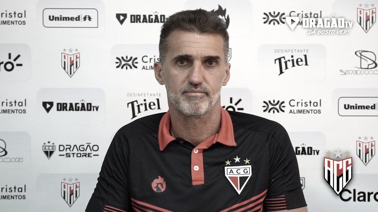 Mancini comemora empate, avalia Atlético-GO e esclarece polêmica com meia Jorginho