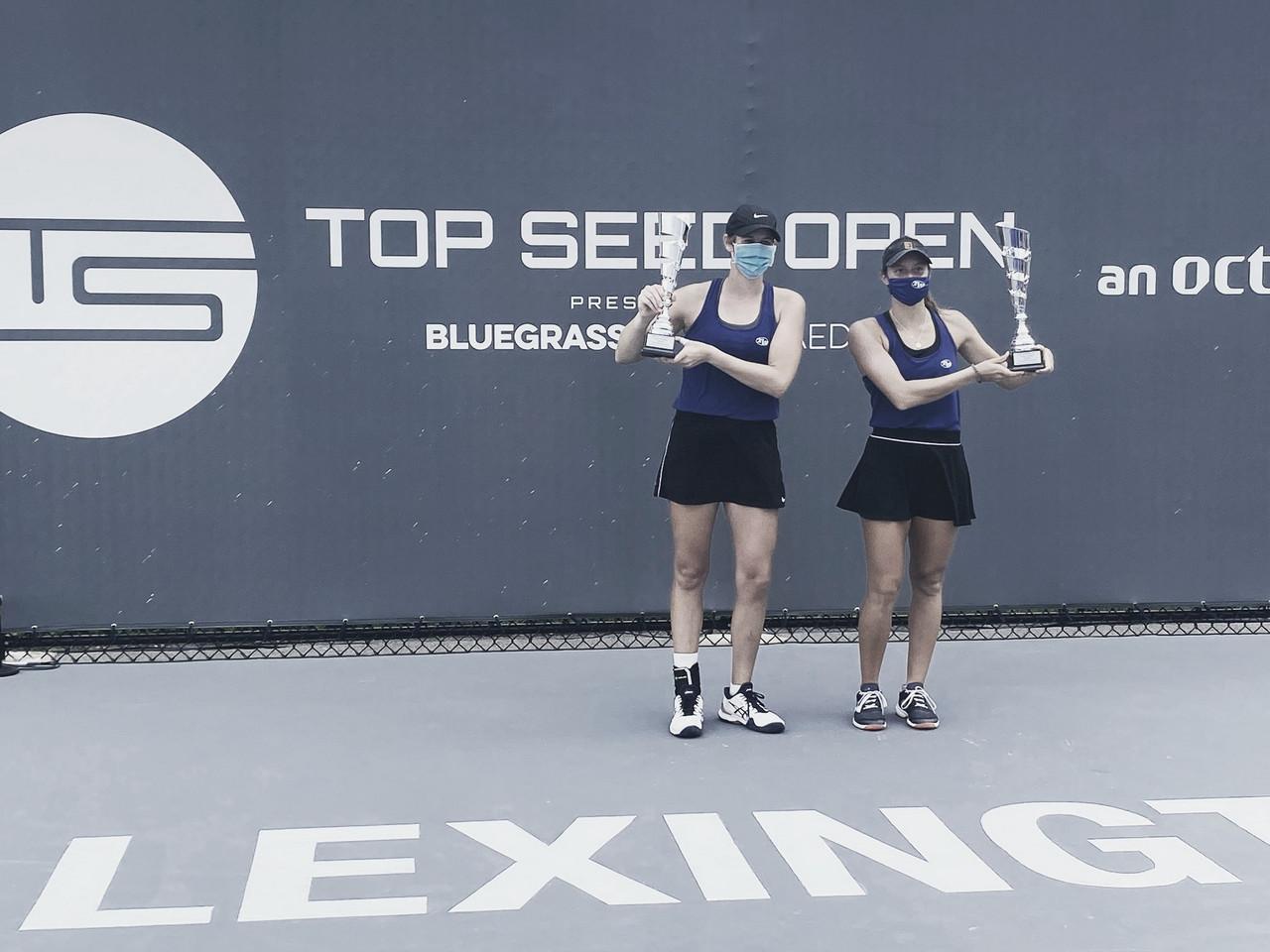 Brasileira Luisa Stefani e americana Hayley Carter são campeãs de duplas em Lexington