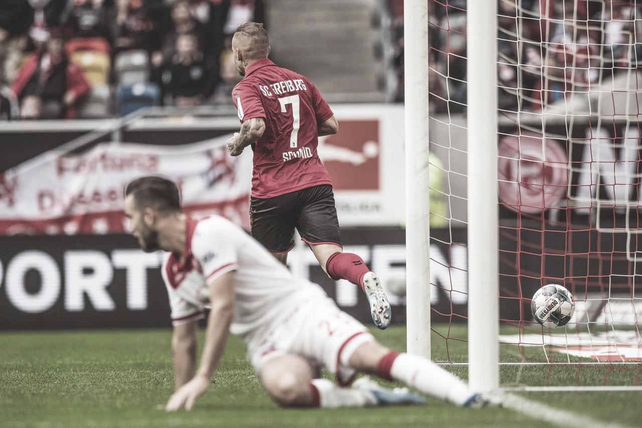 Freiburg vira no segundo tempo e vence Fortuna fora de casa pela Bundesliga