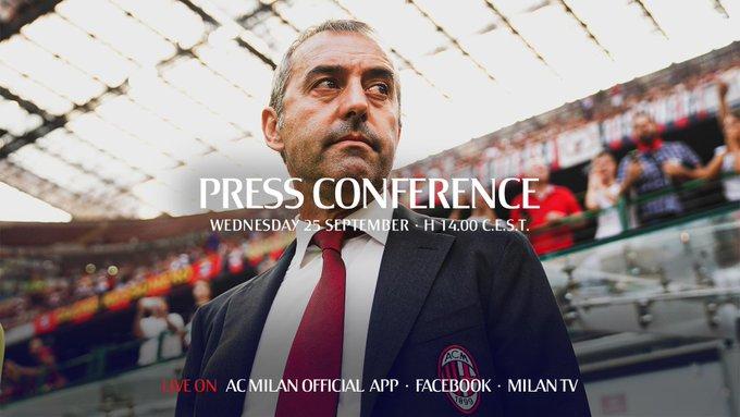 Milan - Le parole di Giampaolo ed i convocati rossoneri