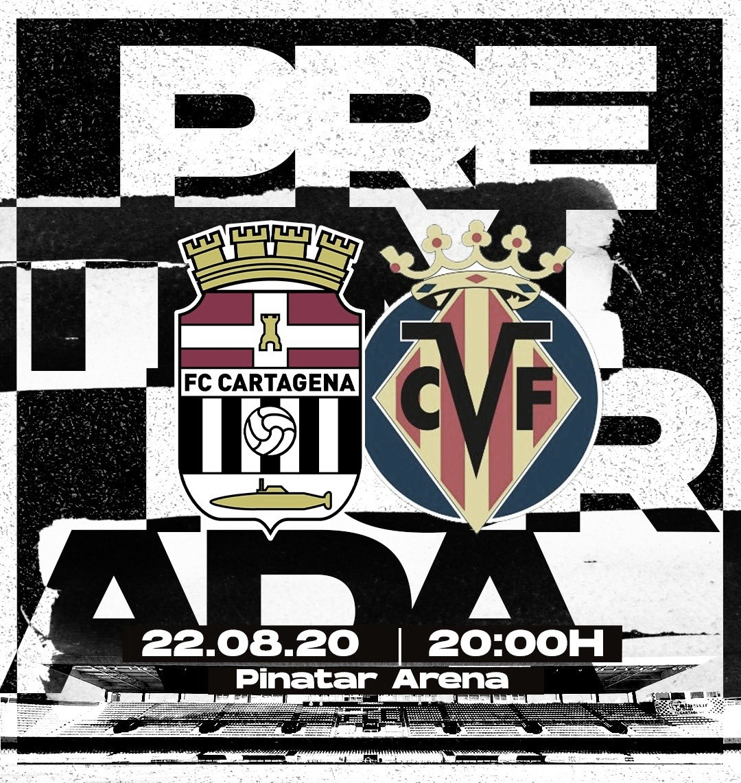 Villarreal CF, primer rival al que se medirá el FC Cartagena en la pretemporada