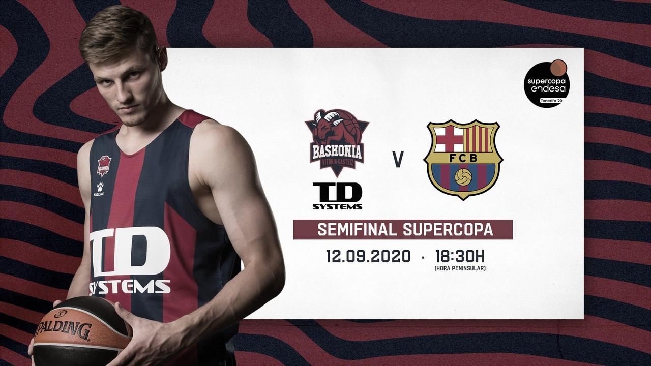 Horario confirmado para el primer cruce de 'semis' de la Supercopa entre Baskonia y FC Barcelona