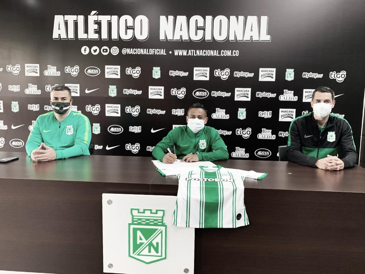 Vladimir Hernández renovó por un año su contrato con Atlético Nacional