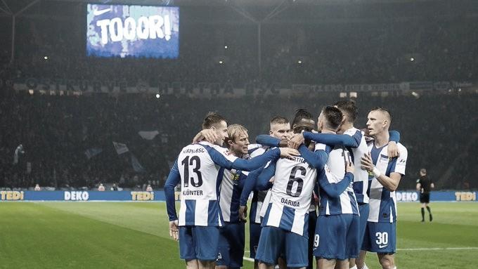 Hertha Berlin bate Fortuna Düsseldorf e vence a terceira seguida na Bundesliga