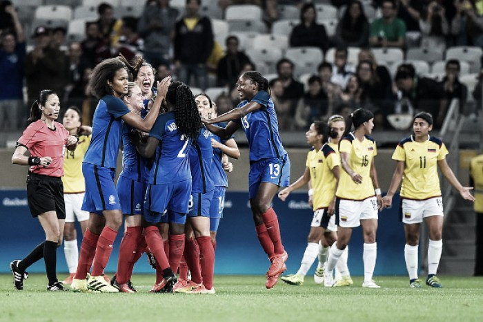 France 4-0 Colombia: Les Bleues off to flying start in Rio