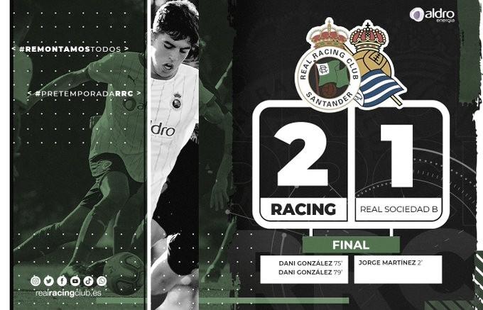 El Racing gana su primer partido oficial de pretemporada. Fotografía: Real Racing Club