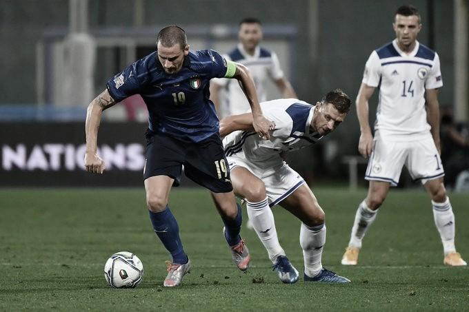 Itália domina, mas só empata com Bósnia na estreia da Nations League