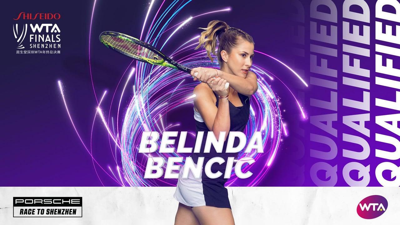 Belinda Bencic qualifies for the WTA Finals