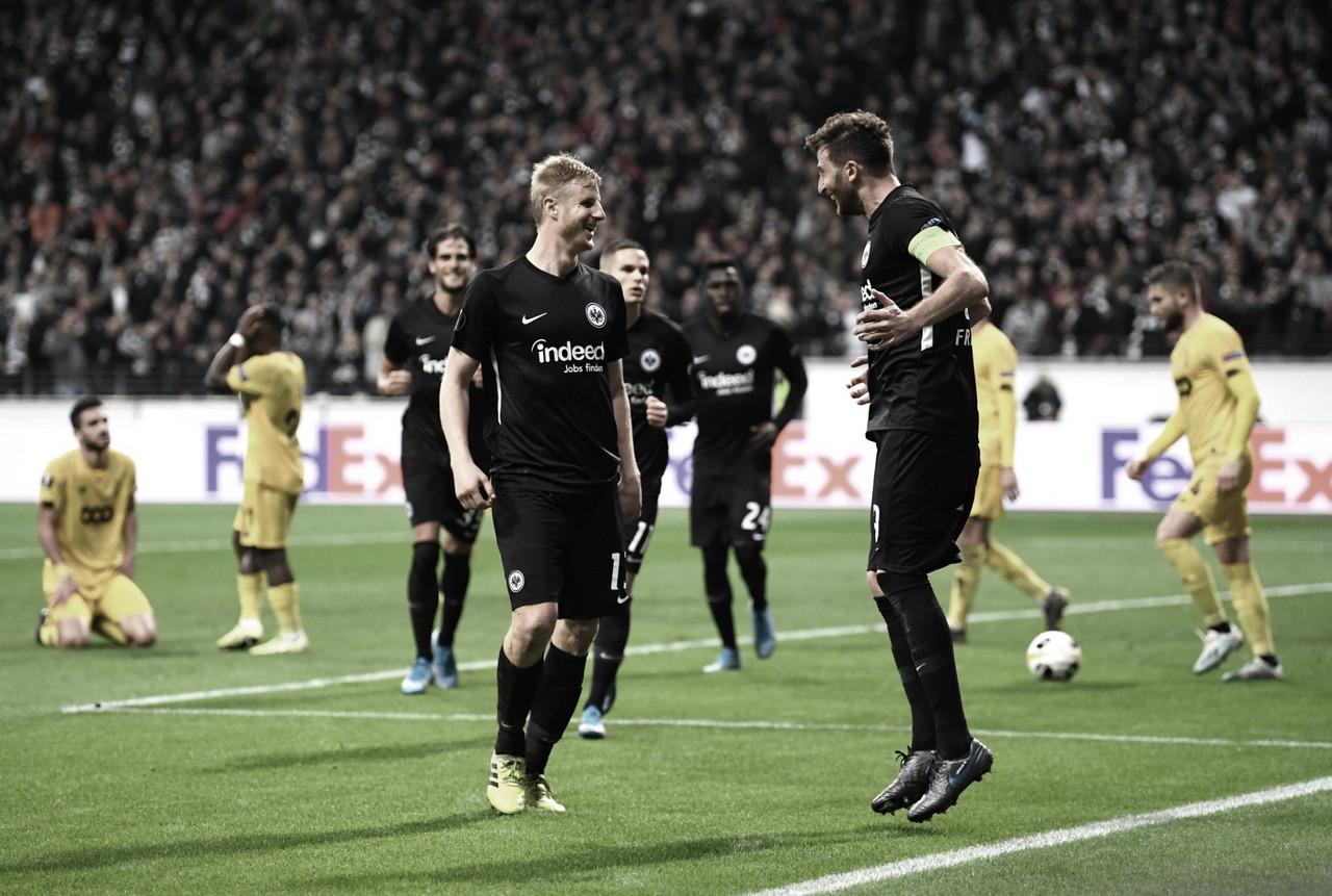 Eintracht Frankfurt derrota Liège e conquista segunda vitória na Europa League