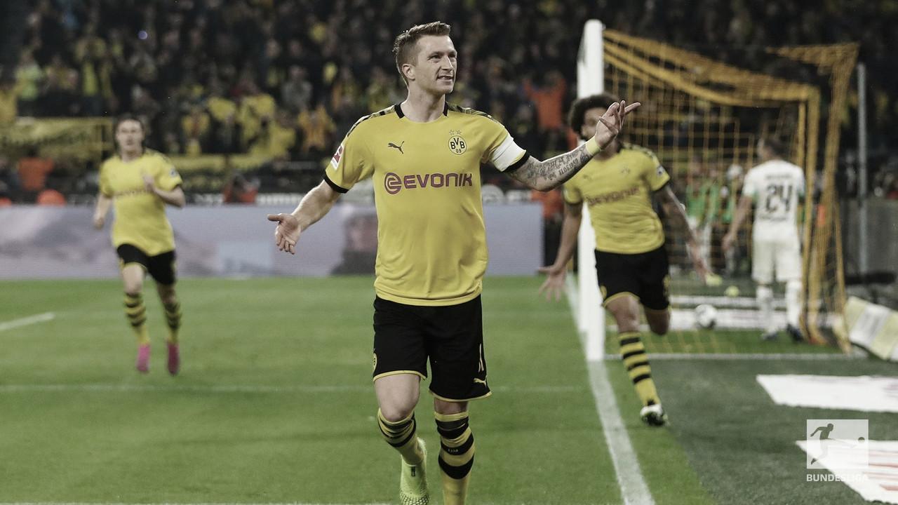 No confronto direto entre Borussias, Dortmund vence e encosta no líder M'gladbach