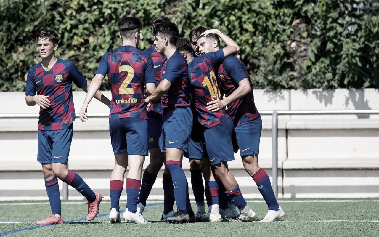 El FCB Juvenil A doblega al CF Badalona en el primer ensayo de la pretemporada