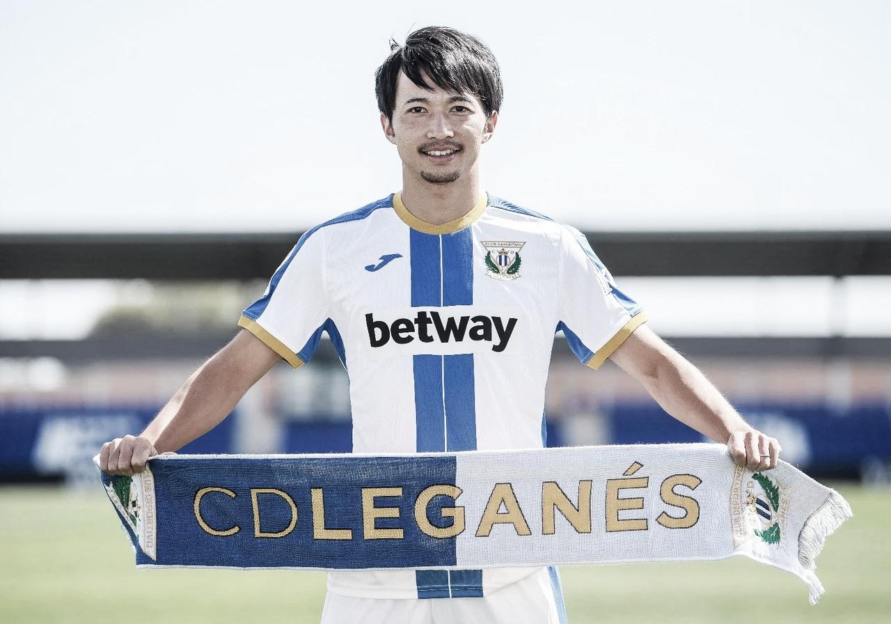 Shibasaki durante su presentación con el club | Foto: CD Leganés