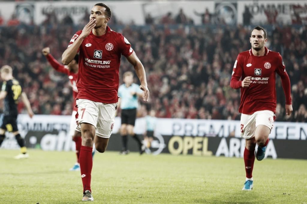 De virada, Mainz vence Colônia e respira contra o rebaixamento na Bundesliga