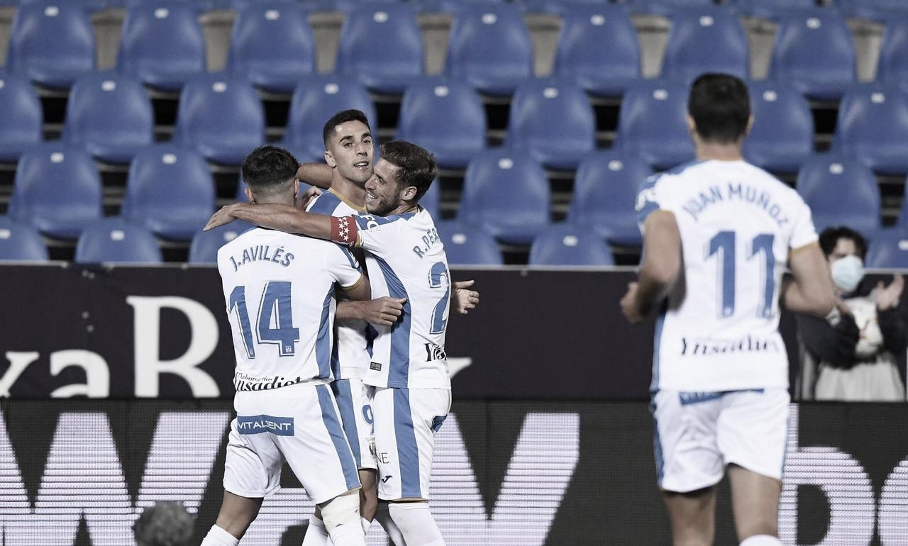 Los jugadores del Leganés celebrando un gol frente al Cartagena | Foto: CD Leganés