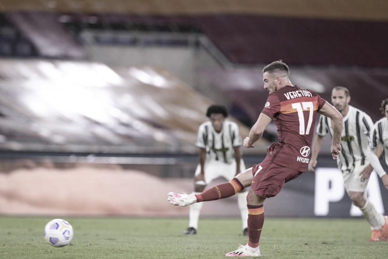 """Após empatar com Juventus, Veretout avalia atuação da Roma: """"Jogamos boa partida"""""""