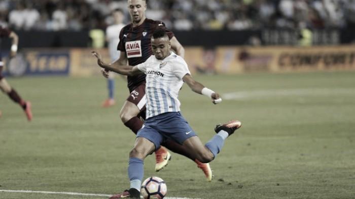 Resumen Málaga 0-1 Eibar en La Liga 2017