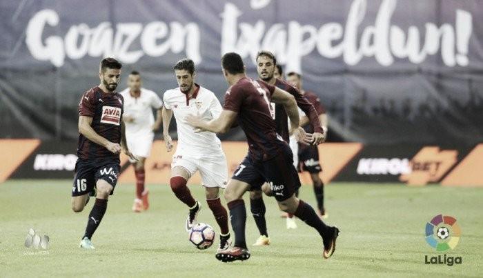 Sevilla não aproveita vantagem numérica de jogadores e apenas empata com Eibar