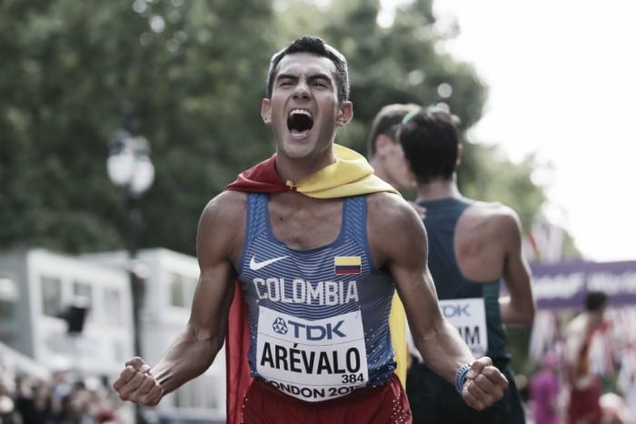 Pizarro alentó a Kimbrely García cuando competía en el Mundial de Atletismo