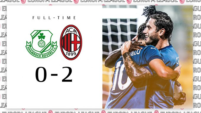 Europa League - Il Milan batte lo Shamrock Rovers e passa il turno