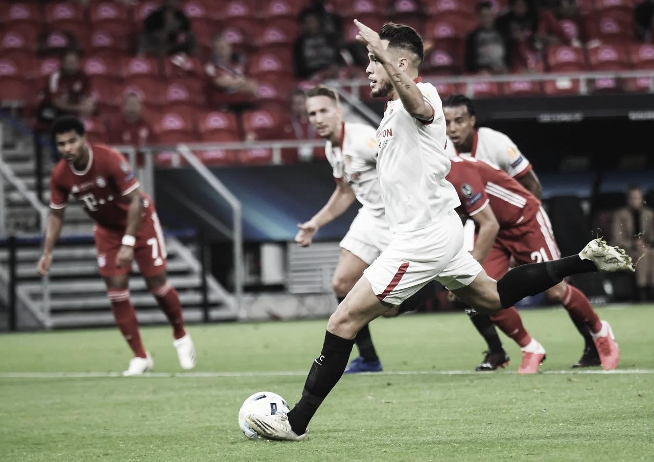 El papel de Ocampos en el Sevilla-Bayern