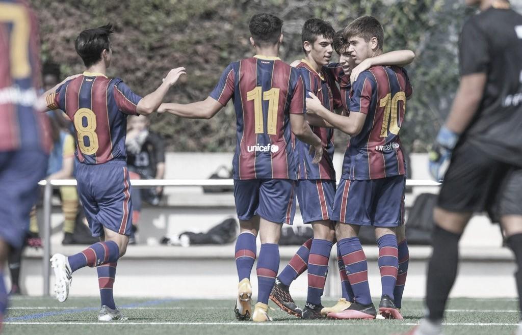 El FCB Juvenil B esta pretemporada. Foto: FC Barcelona