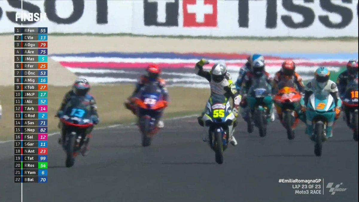 Moto3, doppietta italiana a Misano: vince Fenati, Vietti è secondo