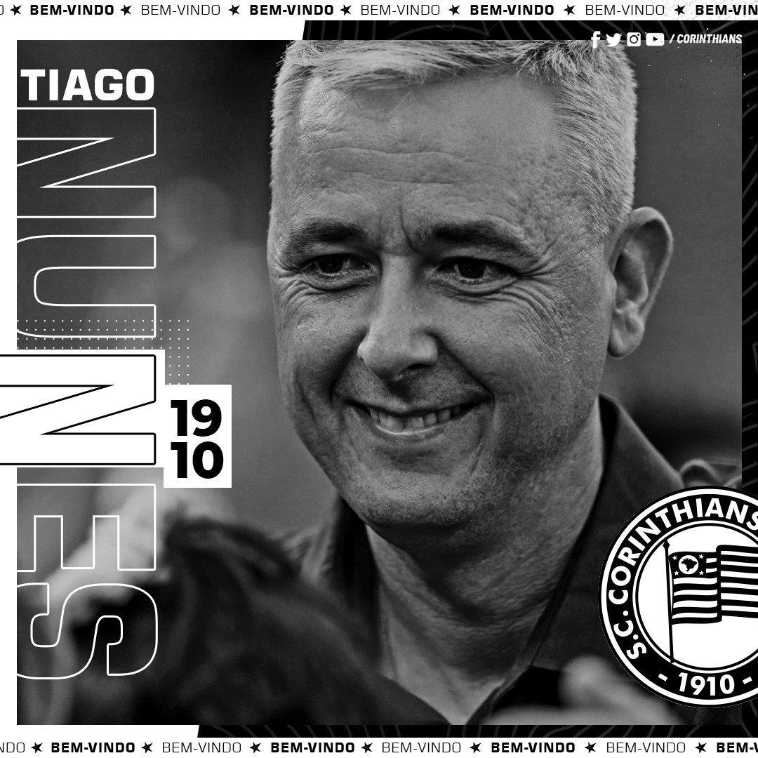 Fim do mistério! Tiago Nunes é o novo técnico do Corinthians
