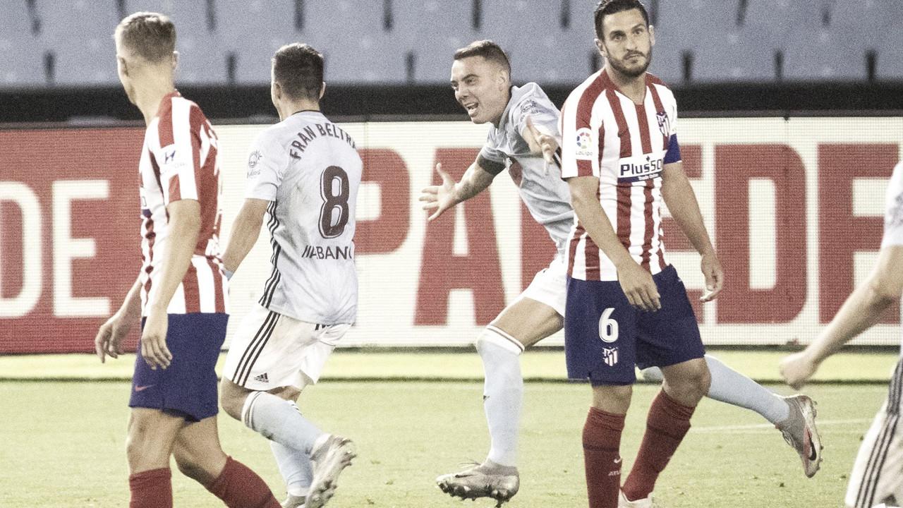 Celebración del gol de Fran Beltrán para conseguir el definitivo 1-1 en el partido de la temporada pasada en el Estadio de Balaídos / Twitter: RC Celta de Vigo