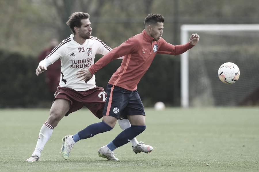 Leonardo Ponzio en el amistoso ante San Lorenzo. FOTO: PRENSA River Plate